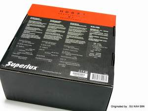 Rear View of the HD631 Box