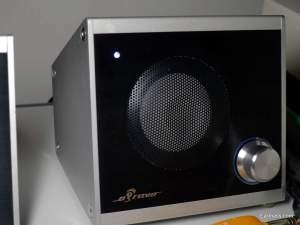 amplifier unit, volume control and midrange driver